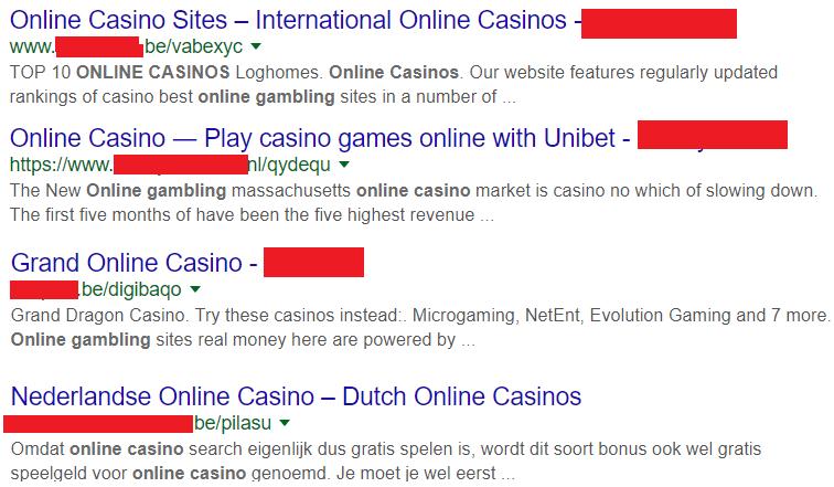 Partners van illegale online casino's hacken websites van bedrijven in België