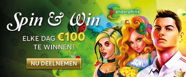 Spin & Win elke dag €100,- bij Goldenpalace.be