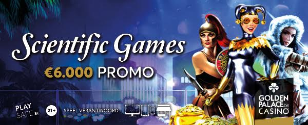 Scientific GamesOGS €6.000 Promo bij Goldenpalace.be