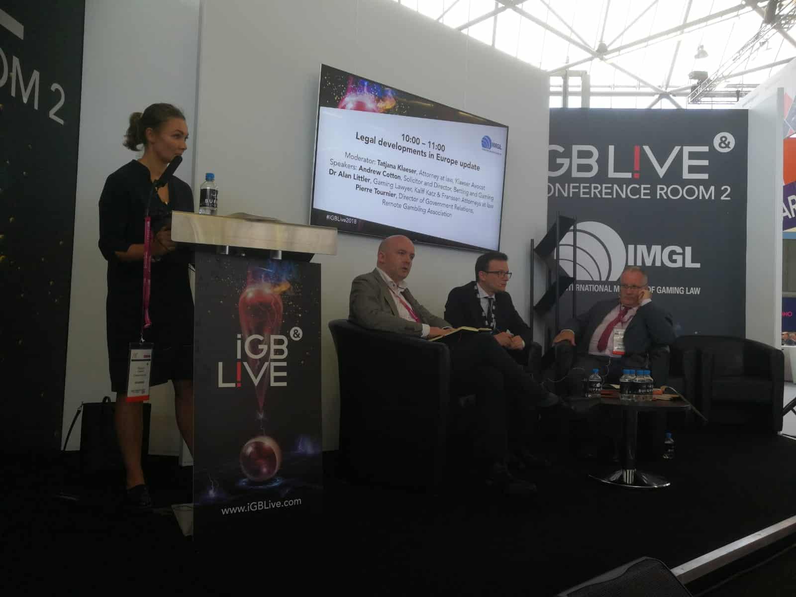 Sessie over regulering in Europa tijdens IGB Live! in Amsterdam