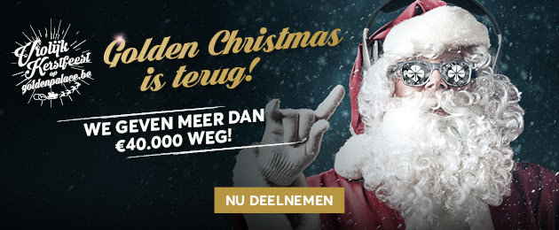 De hele maand Golden Christmas bij Golden Palace online casino