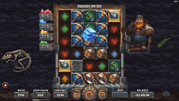 Dwarf Mine videoslot Yggdrasil